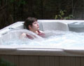 liquid light cottage hot tub
